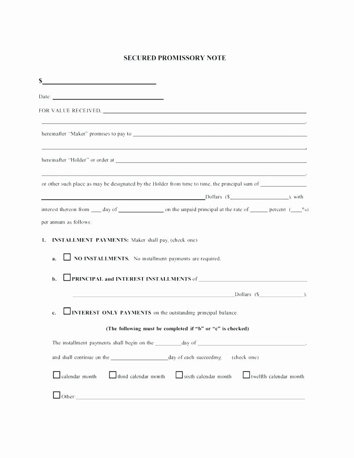 Promissory Note Template Florida Best Of Promissory Note form Florida Free Agreement Template Word