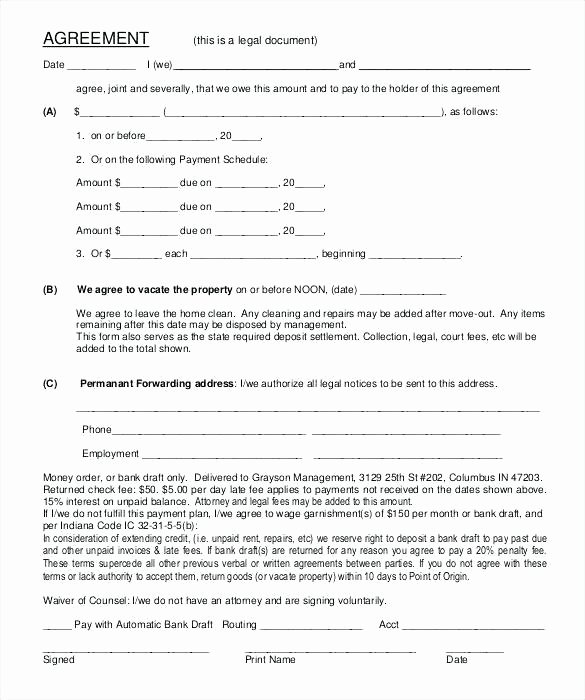 Promissory Note Template Florida New Promissory Note Example Template Free Word format form