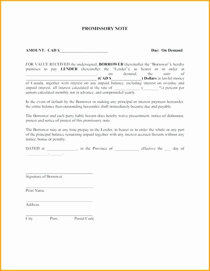Promissory Note Template Texas Fresh Printable Sample Simple Promissory Note form Real Estate