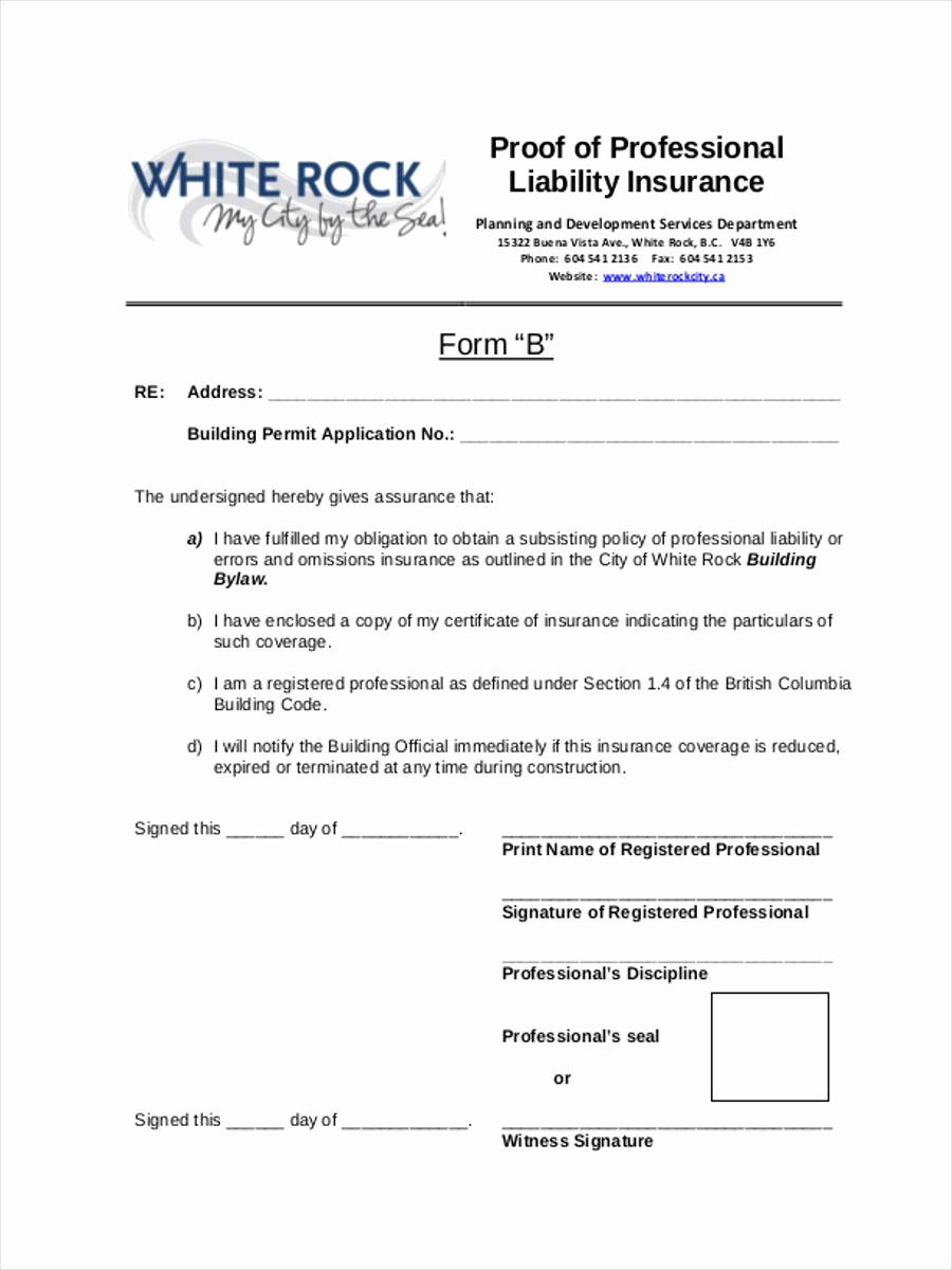 Proof Of Insurance Template Beautiful 22 Liability form Templates