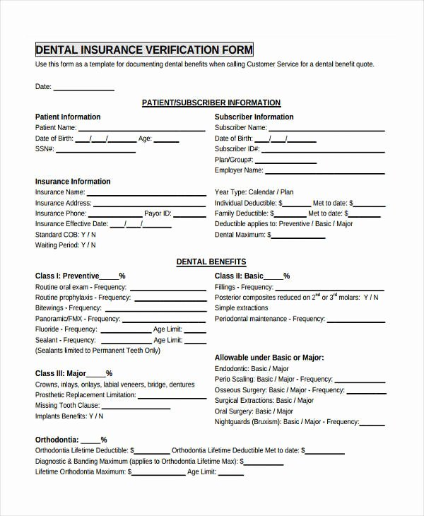 Proof Of Insurance Template Best Of 23 Insurance Verification form Templates