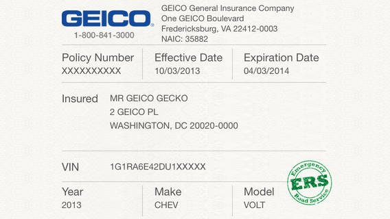 Proof Of Insurance Template Lovely 5 Best Of Proof Insurance Card Template Geico
