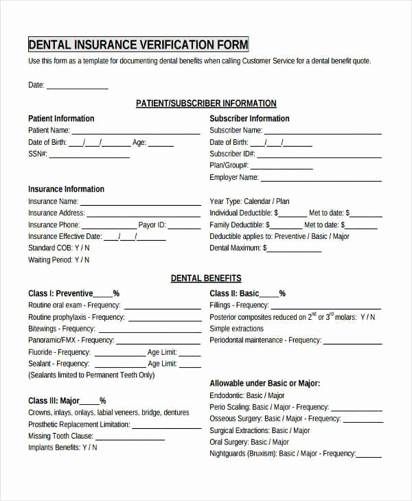 Proof Of Insurance Template New 17 Sample Insurance Verification forms