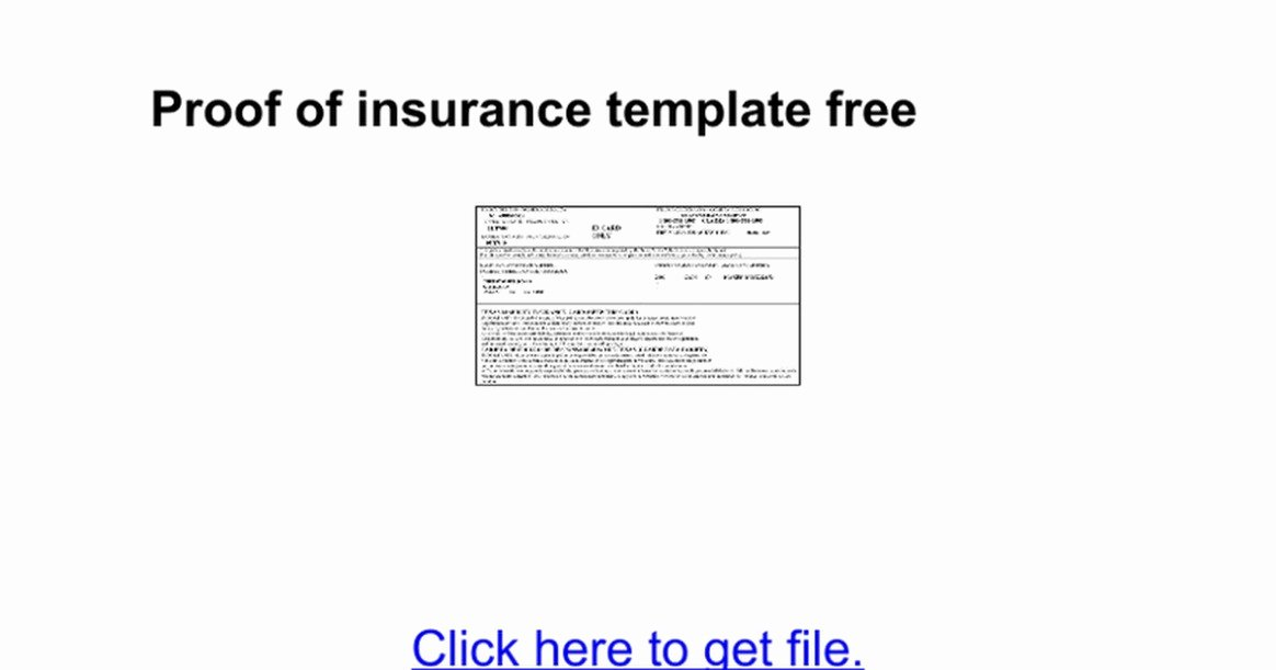 Proof Of Insurance Template Unique Proof Auto Insurance Template Free Yogatreestudio