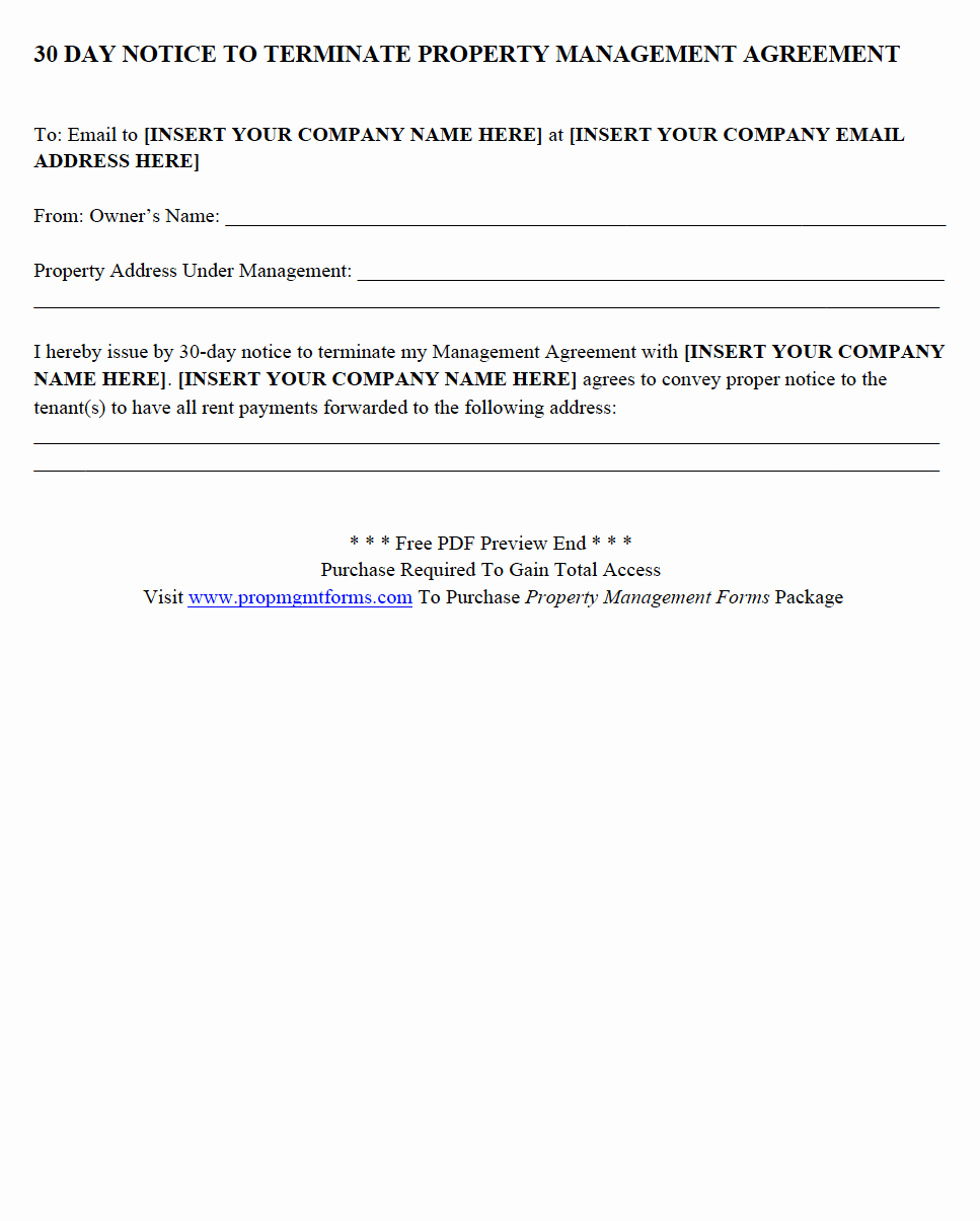 Property Management Agreement Template Elegant Property Management forms