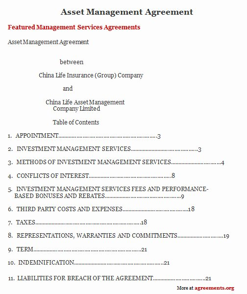 Property Management Agreement Template Luxury asset Management Agreement Sample asset Management