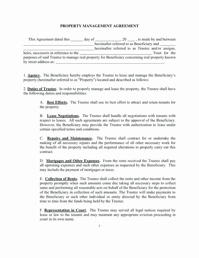 Property Management Contract Template Best Of asset Management Agreement Sample Template Natural Gas