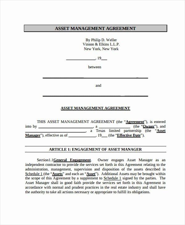 Property Management Contract Template Unique 15 Management Agreement Templates Word Pdf