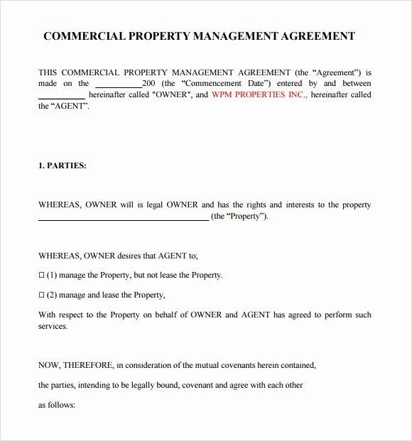 Property Management Contract Template Unique Property Management Contract Template Invitation Template