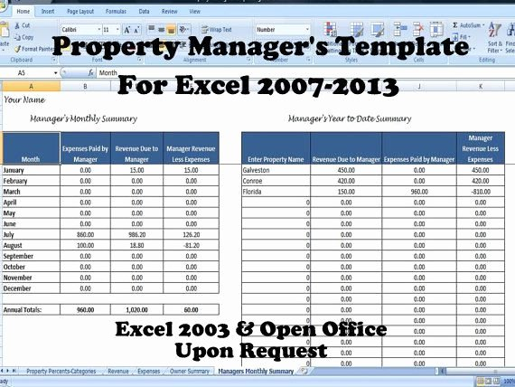 Property Management Excel Template Beautiful if You Manage Multiple Rental Properties for Another Owner