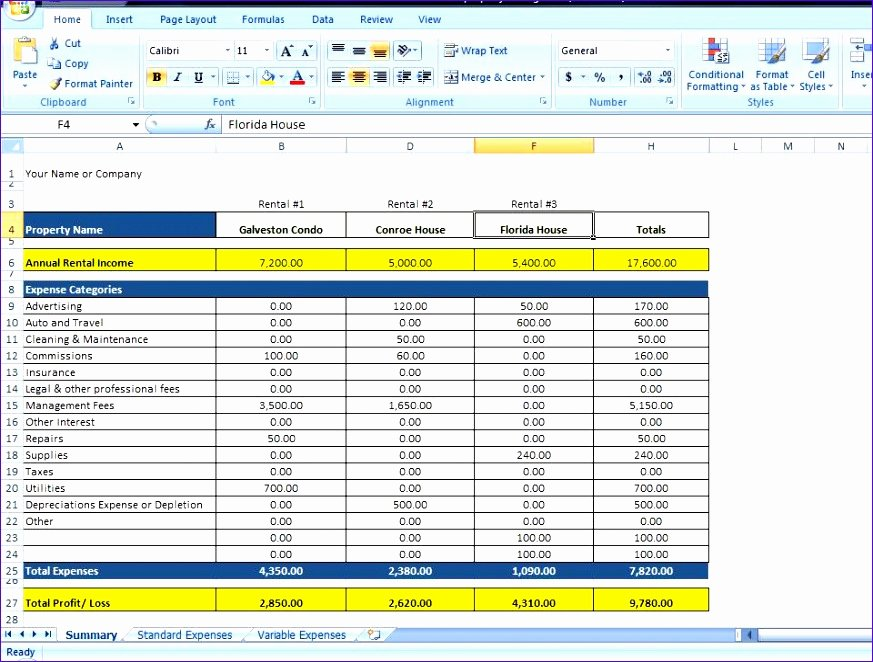 Property Management Excel Template Inspirational 12 In E and Expenditure Template Excel Exceltemplates