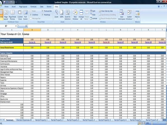Property Management Excel Template Luxury Property Management Template