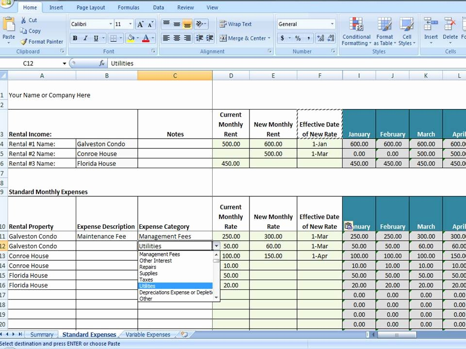 Property Management Excel Template New Vrbo Accounting Excel Worksheet Excel Template for