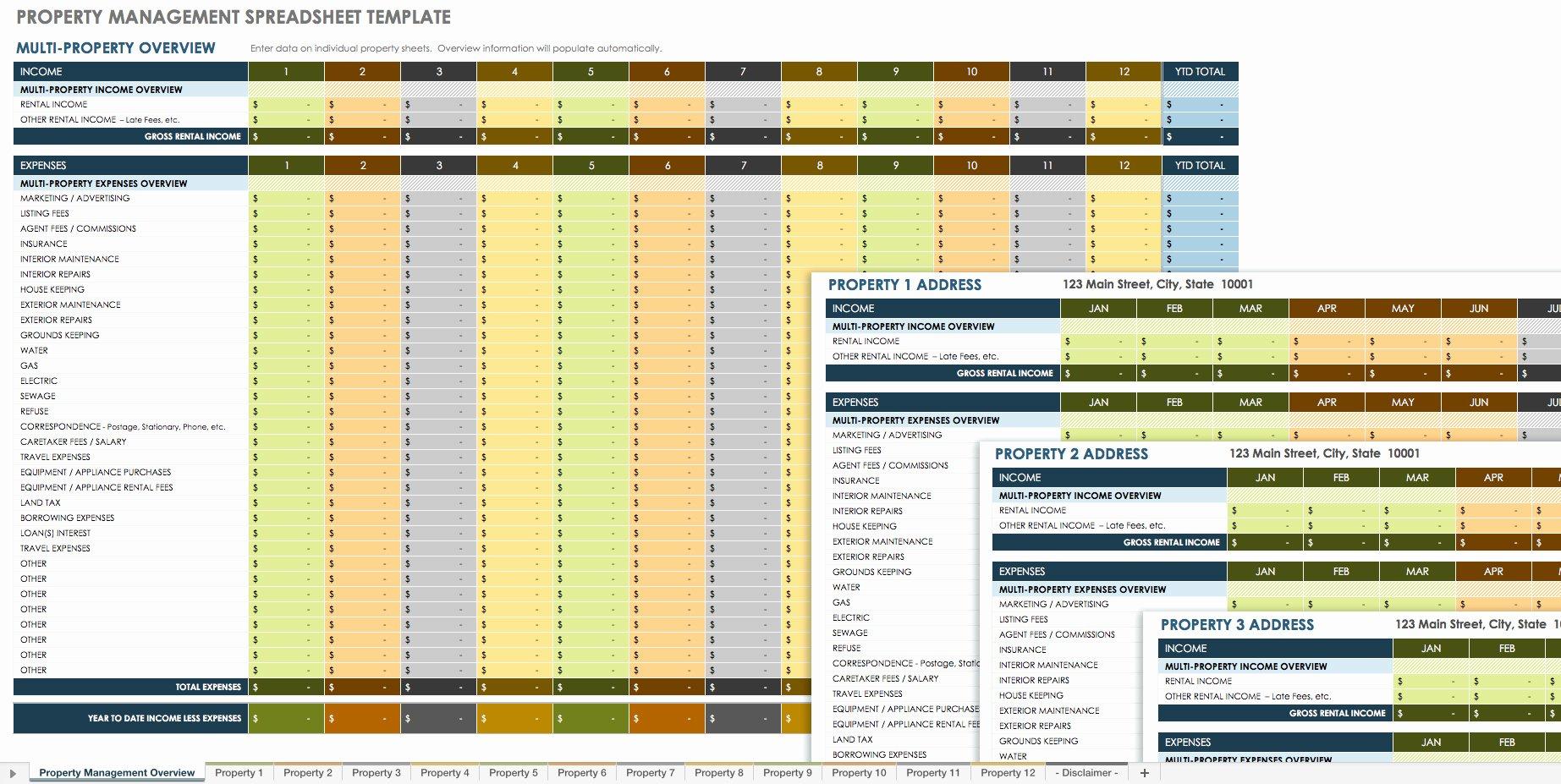 Property Management Excel Template Unique 18 Free Property Management Templates