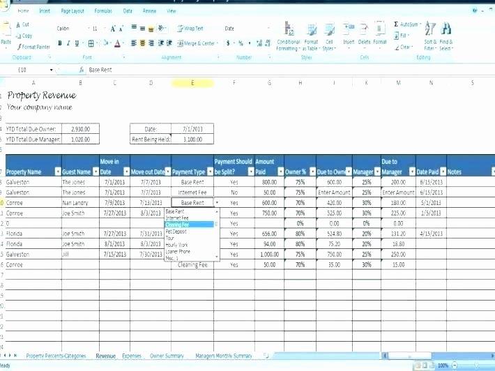 Property Management Excel Template Unique Property Management Excel Template Property Management