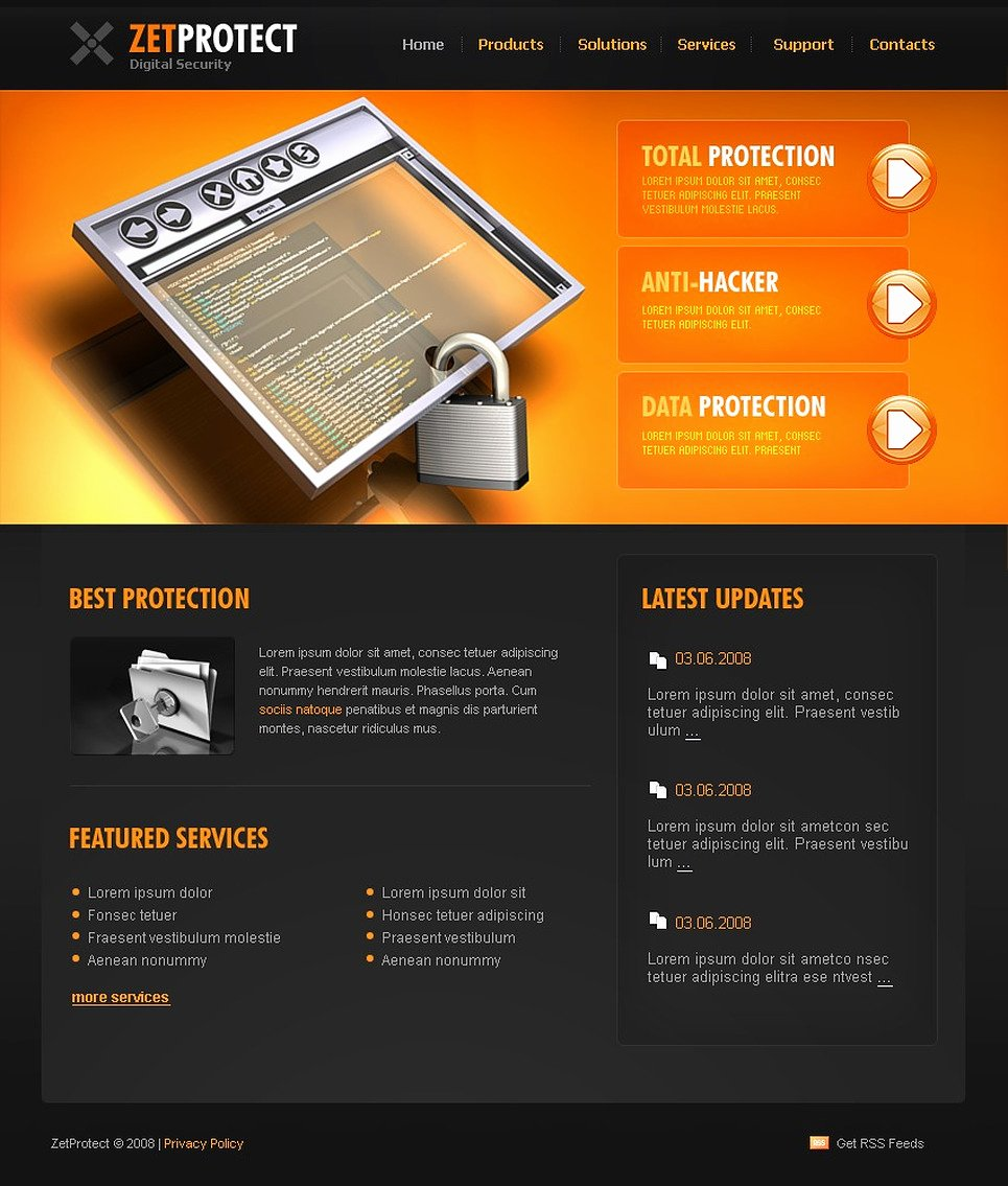 Property Management Web Template Beautiful Information Security Website Template
