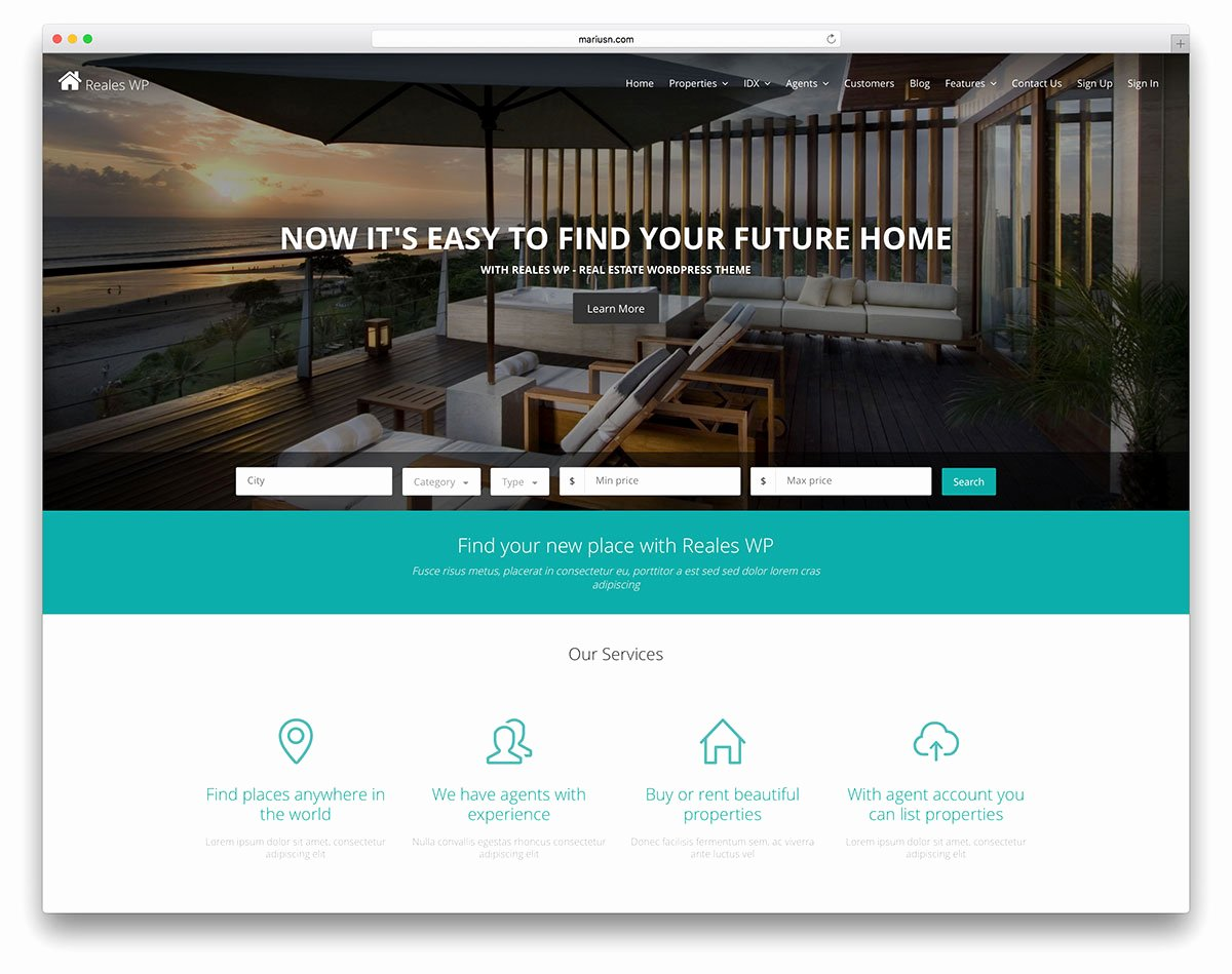 Property Management Web Template Fresh Apartment Rent Wordpress theme Property Management Website
