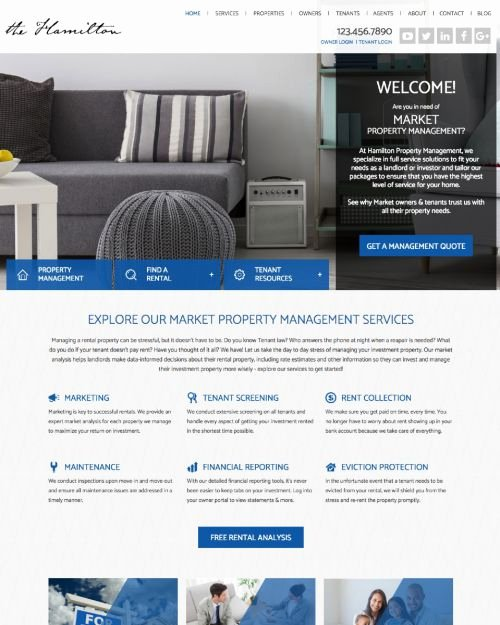 Property Management Web Template Inspirational Property Management Website Templates Free Property