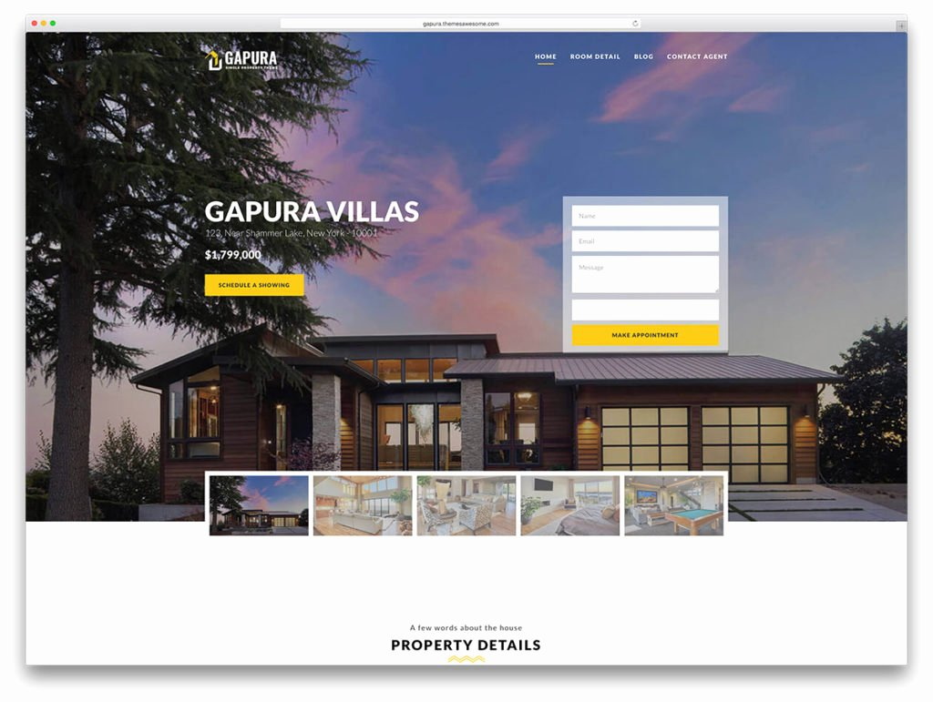 Property Management Web Template Lovely Tìm Hiểu Chủ đề Wordpress Gapura Dành Cho Thiết Kế Website