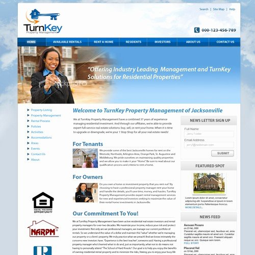 Property Management Web Template New Webpage Template for Rental Property Management Pany