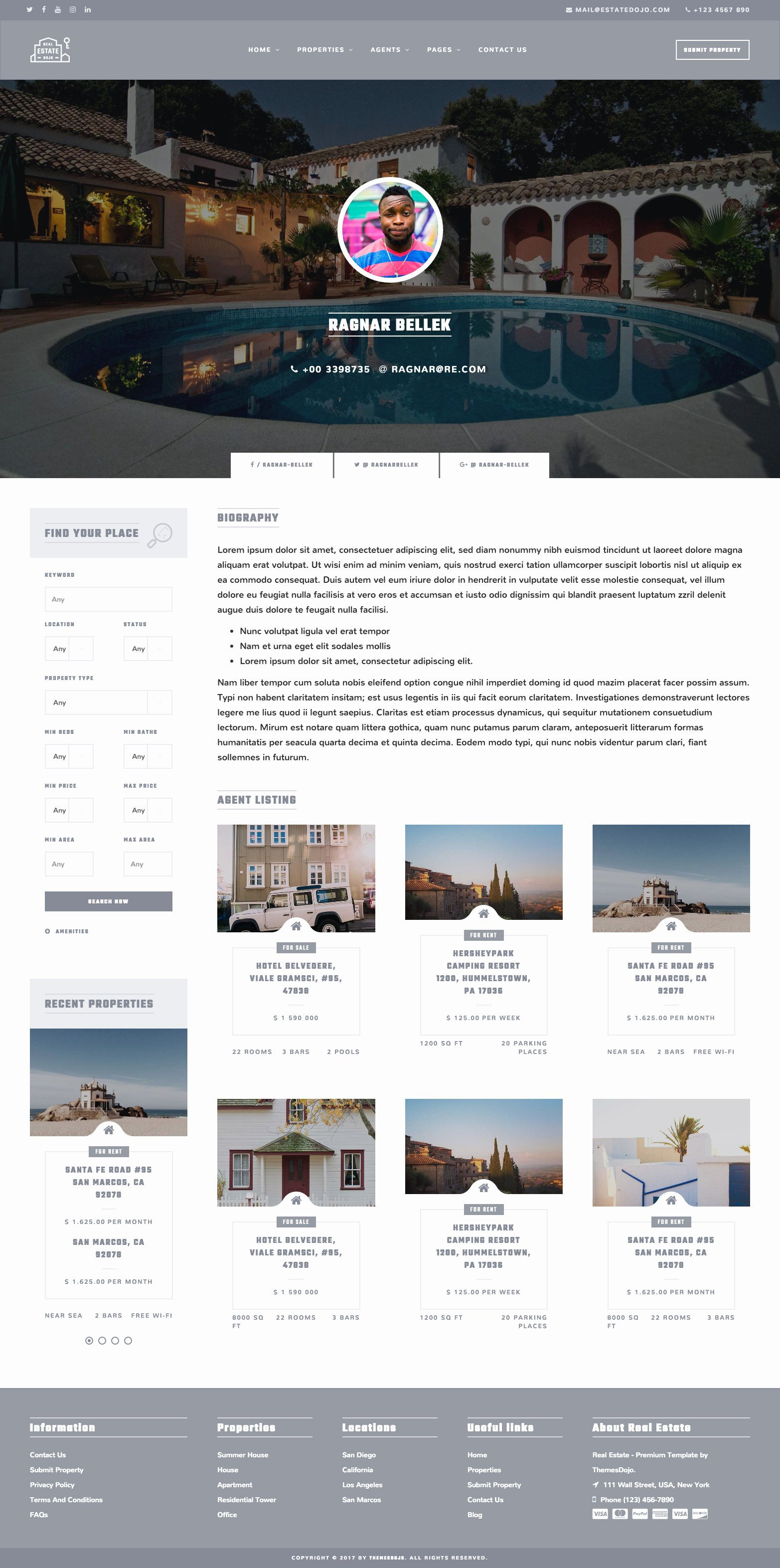 Property Management Web Template Unique Real Estate Dojo HTML Css Real Estate Agency Website