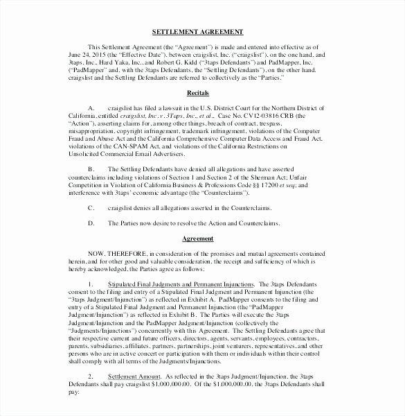 Property Settlement Agreement Template Beautiful Property Settlement Agreement Template – Email Template