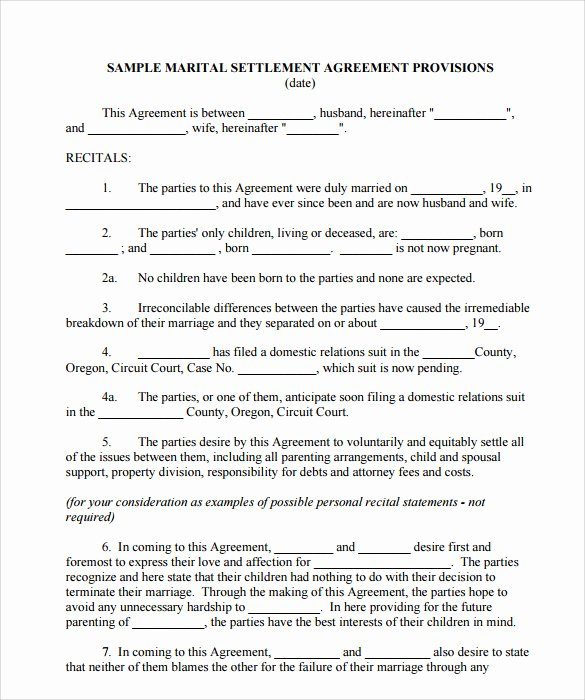Property Settlement Agreement Template Beautiful Settlement Agreement Template 10 Download Documents In