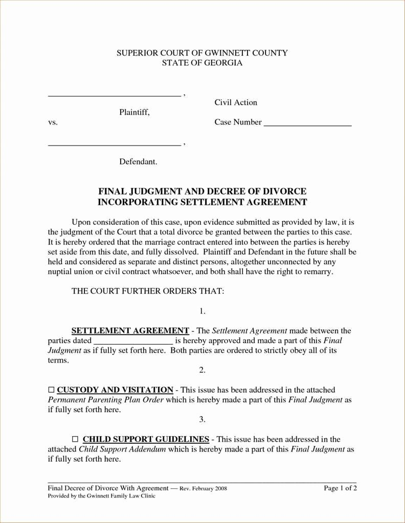 Property Settlement Agreement Template Best Of 69 Unique Property Settlement Agreement Virginia
