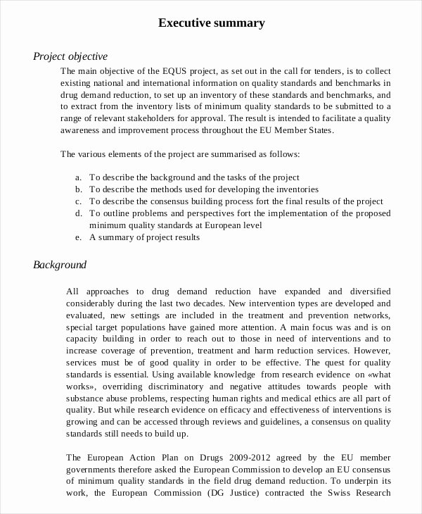 Proposal Executive Summary Template Fresh 20 Executive Summary Templates