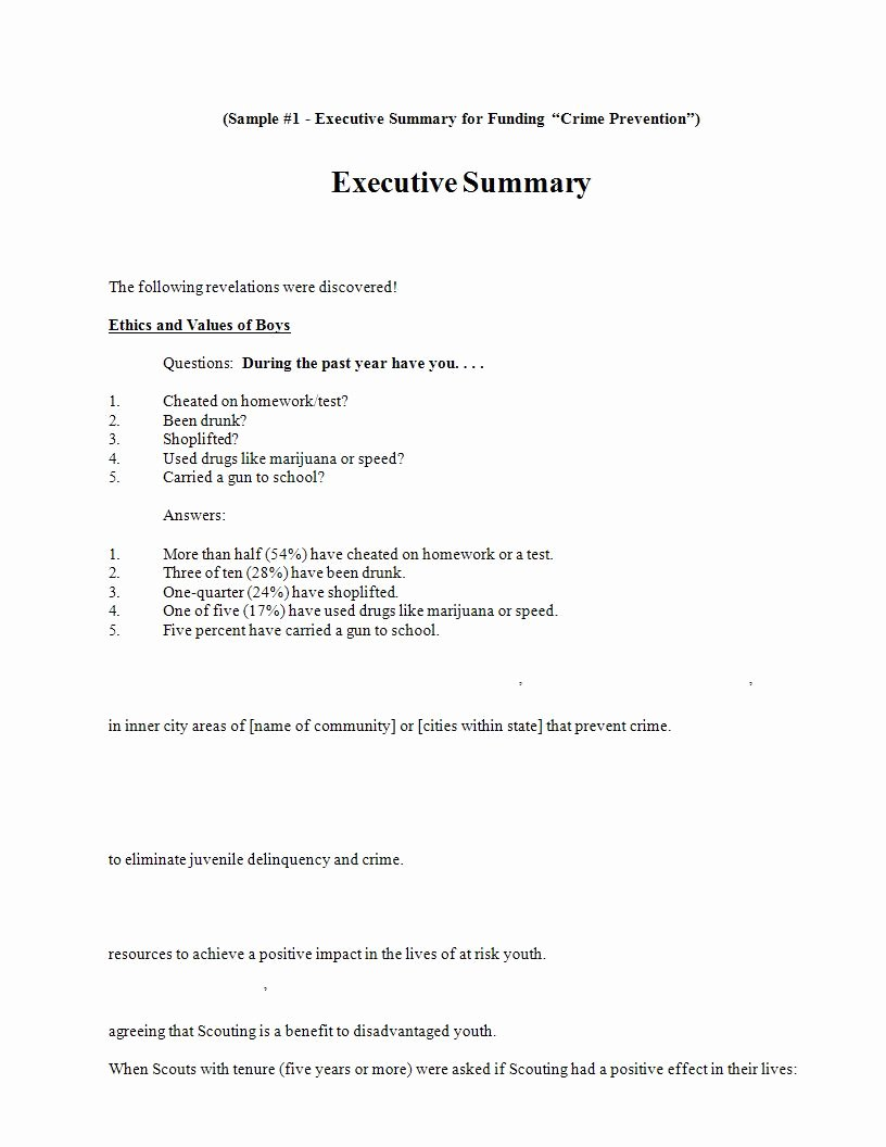 Proposal Executive Summary Template New 22 Executive Summary Samples Pdf Doc