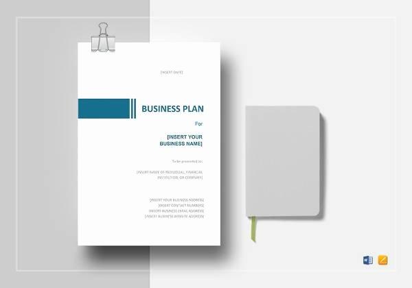 Proposal Template Google Docs Fresh 9 Sample Sba Business Plan Templates