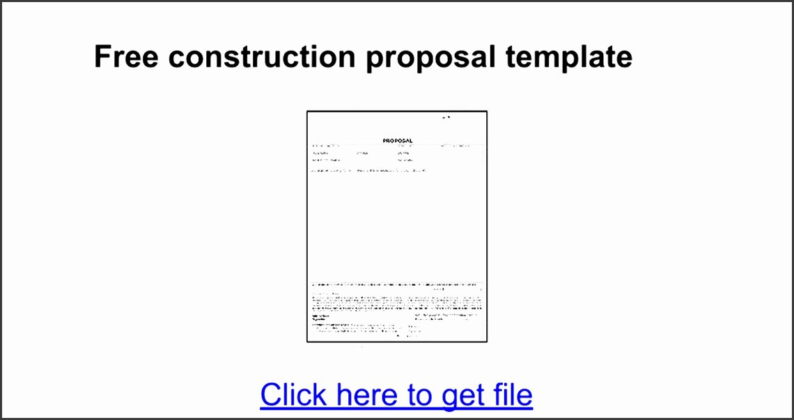 Proposal Template Google Docs Luxury 9 Free Construction Proposal Template Sampletemplatess