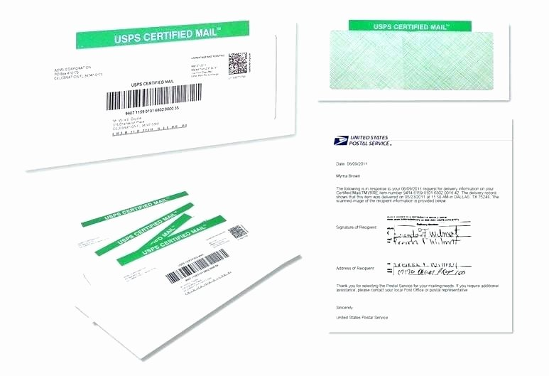Ps form 3811 Template Beautiful Certified Mail Receipt Template Certified Mail Receipt