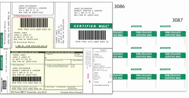 Ps form 3811 Template Elegant Certified Mail Labels and forms