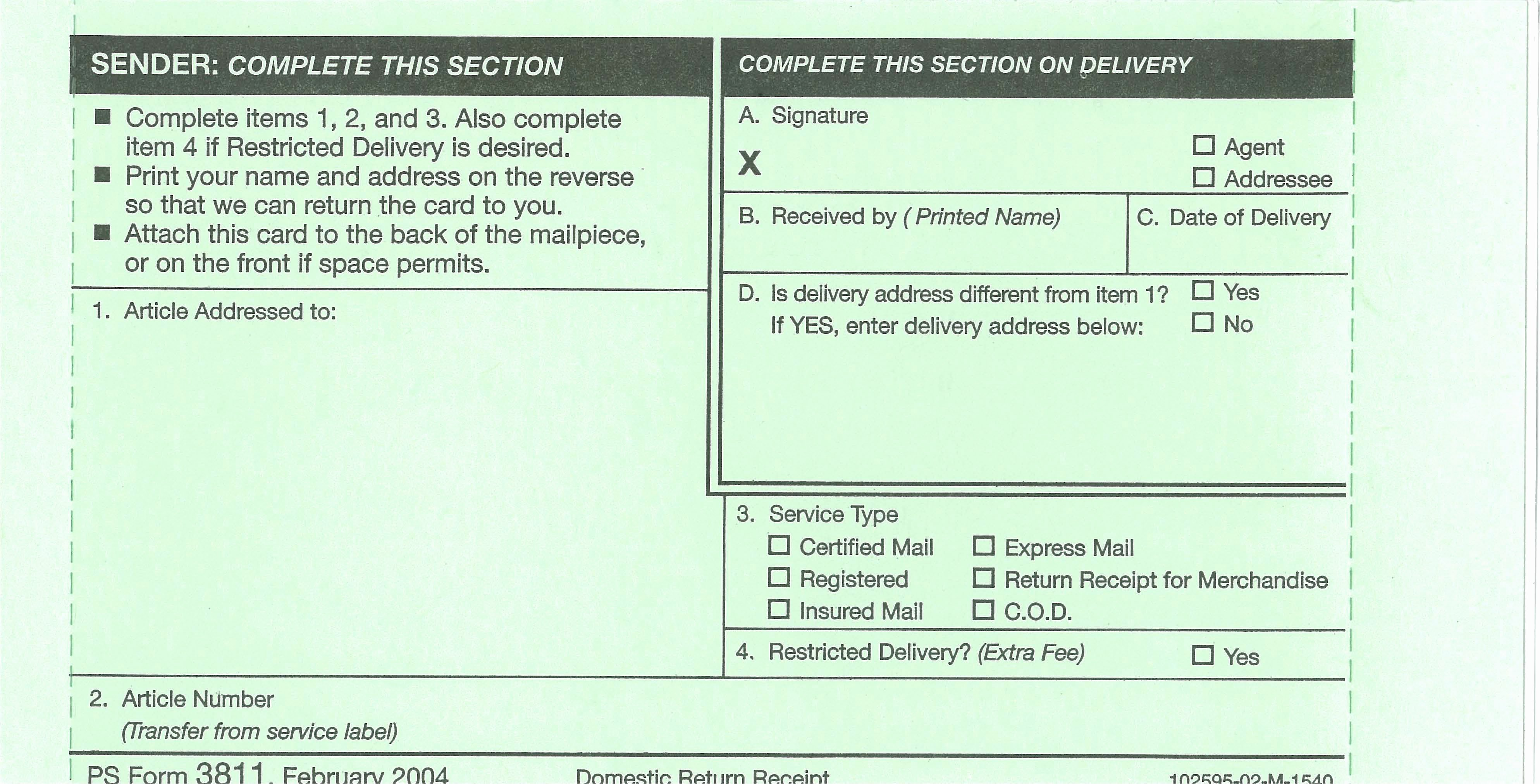 Ps form 3811 Template Elegant Ucr Mail Services Exhibits