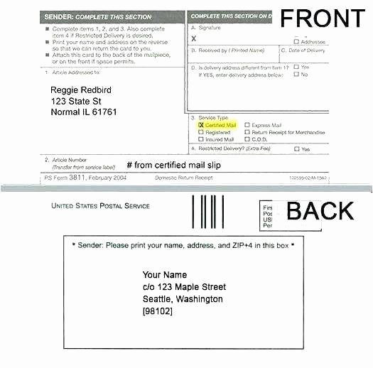 Ps form 3811 Template Fresh 27 New Usps Certified Mail Receipt Free Download