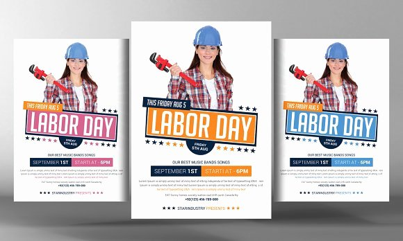 Ps form 3811 Template Fresh Labor Day Flyer Template Flyer Templates Creative Market