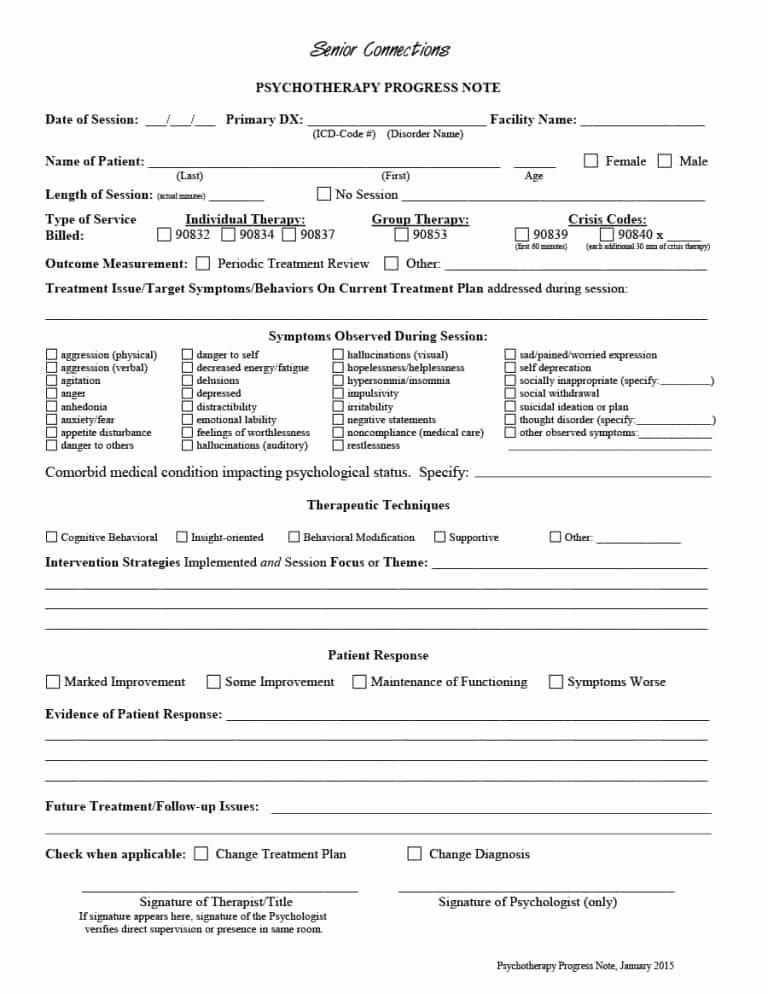 Psychotherapy Progress Notes Template Elegant 43 Progress Notes Templates [mental Health Psychotherapy