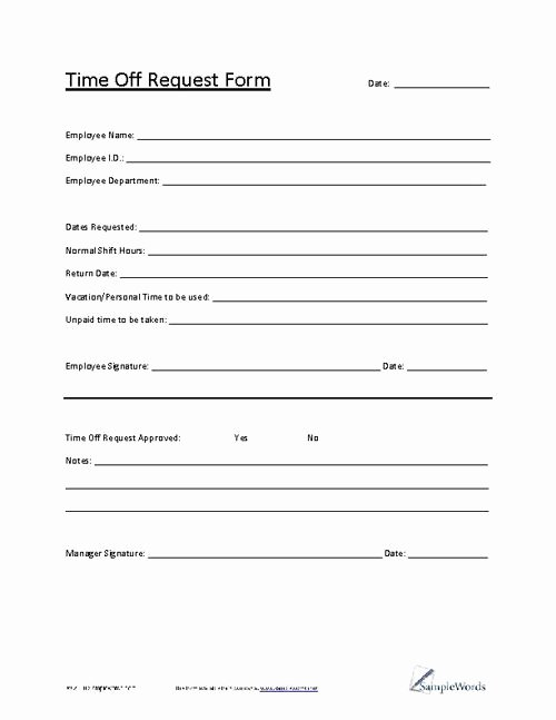 Pto Request form Template Best Of Best 25 Time Off Request form Ideas On Pinterest