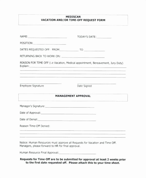 Pto Request form Template Best Of Fresh Request form Template Pto Free