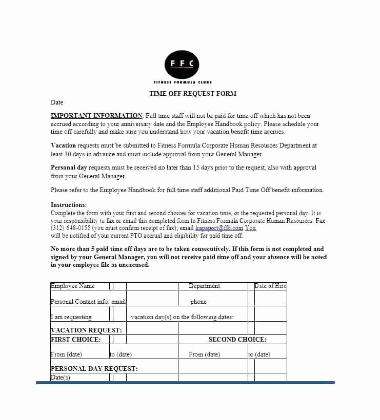 Pto Request form Template Best Of Unlimited Pto Policy Sample Template This Packet Outlines