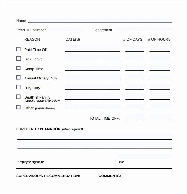 Pto Request form Template Lovely Time F Request form 24 Download Free Documents In Pdf