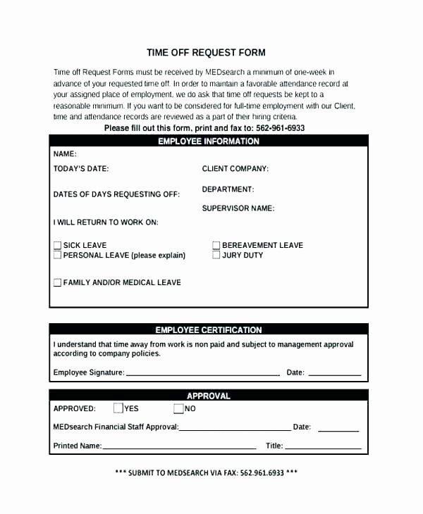 Pto Request form Template Luxury Pto Request form Template – Harriscateringfo