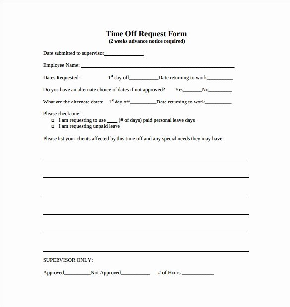 Pto Request form Template New Time F Request form 24 Download Free Documents In Pdf