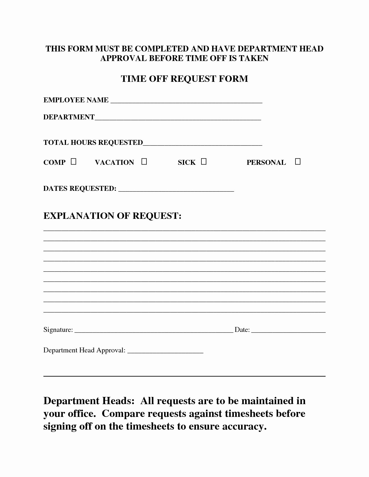 Pto Request form Template Unique Time F Request form Templates