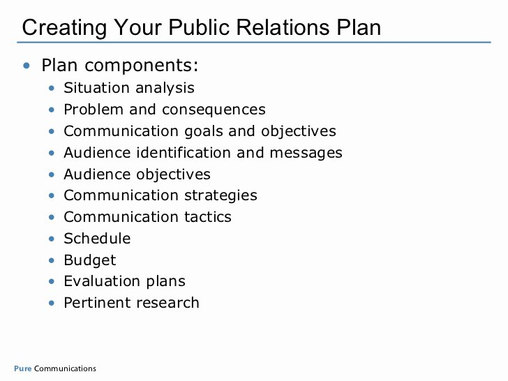 Public Relation Plan Template Beautiful Creating Your Measurable Pr Plan