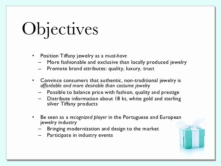 Public Relation Plan Template Inspirational Tiffany & Co Pr Plan