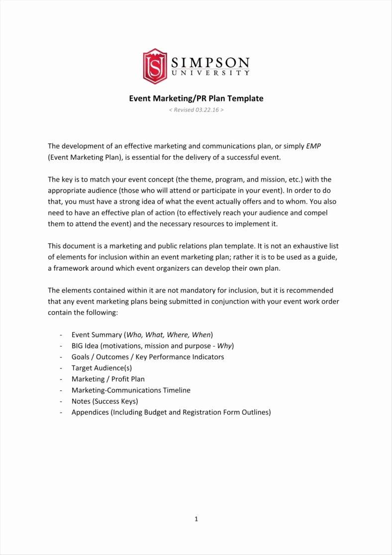 Public Relations Planning Template Fresh 10 Public Relations Proposal Templates Free Pdf Doc