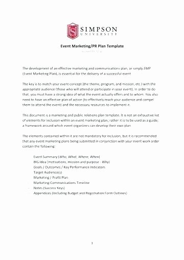Public Relations Planning Template Fresh Public Relations Planning Template Awesome Plan Strategic