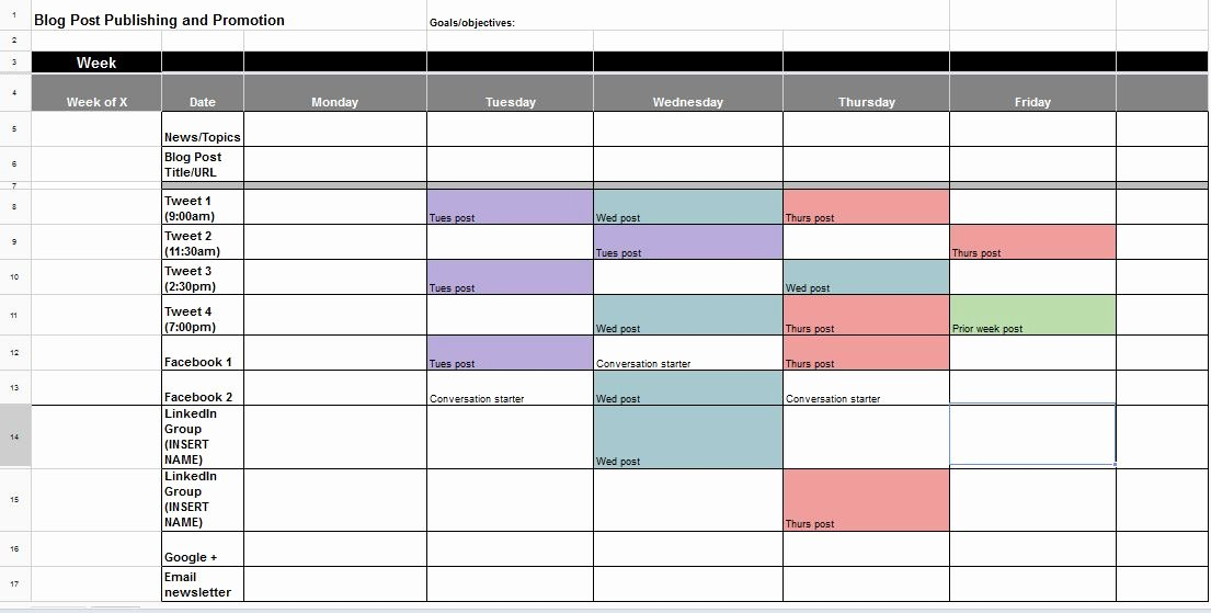 Public Relations Planning Template Unique the Best Content and social Media Calendar Templates
